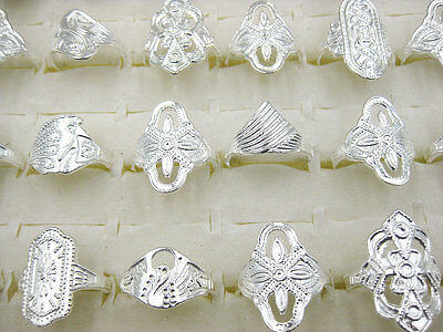 10pcs Lots Mixed Wholesale New Fashion Jewelry Vintage Style Silver Rings J186