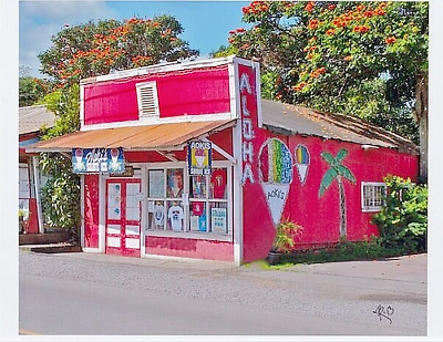 "Aoki's Shave Ice 2013 Haleiwa Town, North Oahu, Giclee On 8X10"" White Matt"