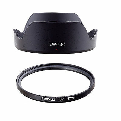 FOR Canon EF-S 10-18mm f/4.5-5.6 IS STM Lens 67MM UV Filter + EW-73C Hood