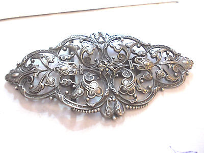 Solid Silver Floral Art Deco Edwardian  Buckle
