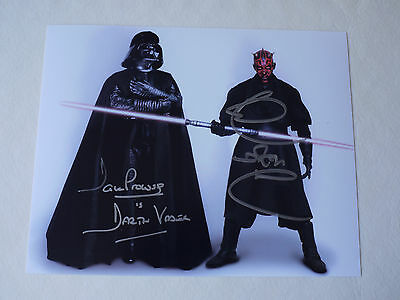 Dual Signed Dave Prowse & Ray Park Star Wars 12x8 Photo - Proof & C.O.A.