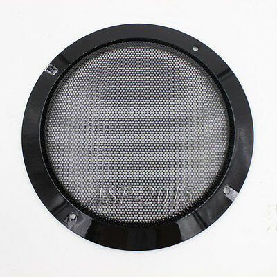 "2x Universal Car 6.5"" Speaker Panel Coaxial Steel Sub Mesh Grills Cover 185mm BK"