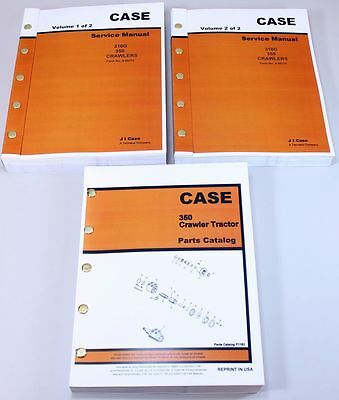 CASE 350B CRAWLER Dozer Loader Service Manual Parts Catalog