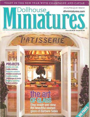 Miniature Collector- Jan/feb., 2008- Wooded Wonderland, Comfy Cushions,chic Sofa