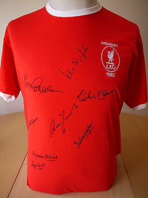 Liverpool 1965 FA Cup Final Shirt signed by 10 - Yeats/Hunt/St. John - COA/Proof