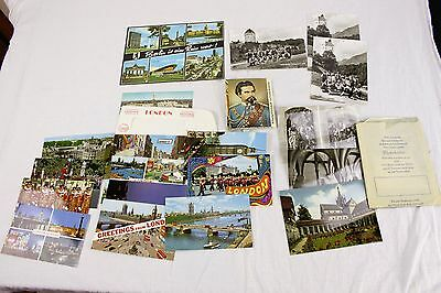 Lot of 18 Vintage Travel Souvenir Photo Postcards From Europe & 12 photo Book