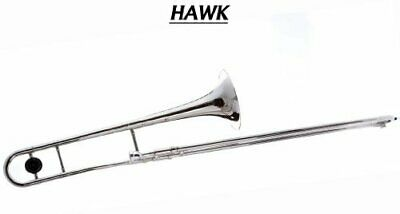 Hawk WD-TB316 Nickel Plated Slide Bb Trombone with Free Case and Mouthpiece