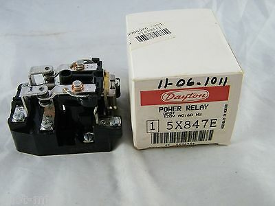 New ~ Oem Original ~ Dayton ~ Power Relay ~ Part # 5X847E ~ Dpdt ~ 120V ~ 60Hz