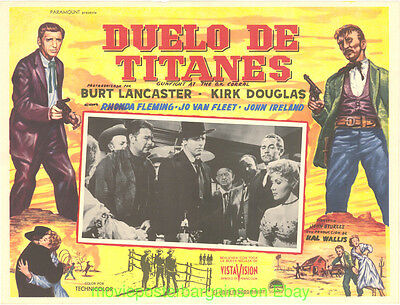 GUNFIGHT AT THE O.K. CORRAL Lobby Card 12.5x17 Movie Poster Mexican KIRK DOUGLAS