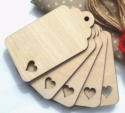 Wooden Luggage Tags Label Tags Jar Labels with Heart Cutout Curved Top Gift Tags