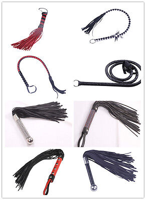 Mischief Handmade Pu Leather Flogger Flirting Whip Horse Racing Cosplay Bundle