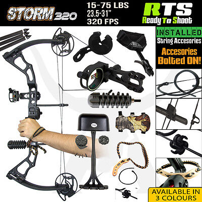 RTS 15-75 Lbs Storm320 Compound Bow for Archery Hunting