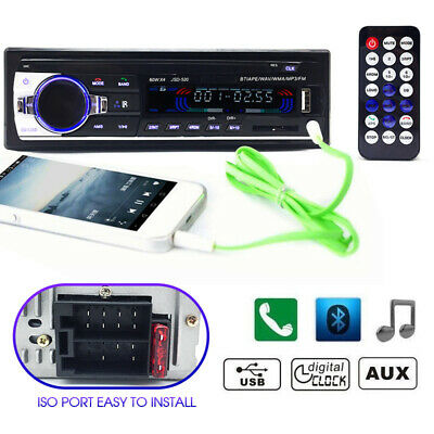 Car Bluetooth In-dash Radio Stereo Audio Head Unit Player MP3/USB/SD/AUX-IN/FM