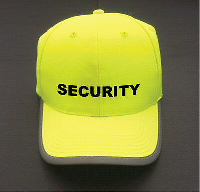 Qty: 1 x  High Visability Yellow Security Branded Baseball Cap