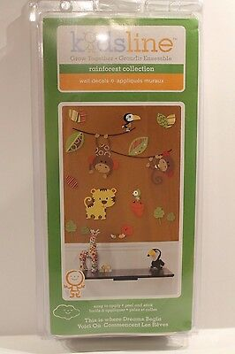 Kidsline Rainforest Collection Wall Decals Jungle Theme Baby Nursery Decor NEW