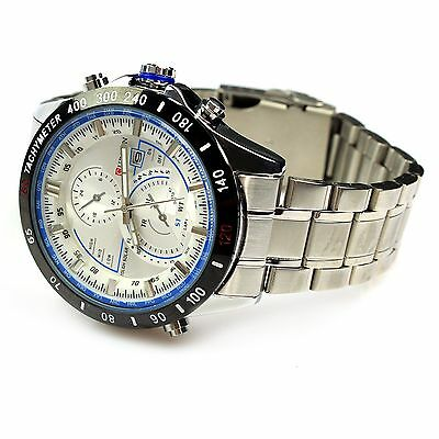 Men's Fashion Stainless Steel Luxury Sport Analog Quartz Wrist Watch
