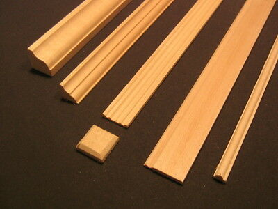 """Groove Channel Molding 7067 Dollhouse .221/"""" wide  24/""""long Houseworks"""