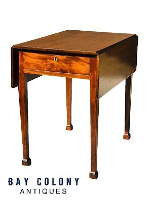 18Th Century Southern Colonies Chippendale Figured Mahogany Pembroke Table