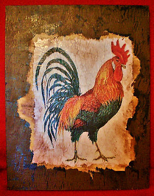 Vintage Look Rooster Rustic Cabin Country Farm Decorative Sign 4