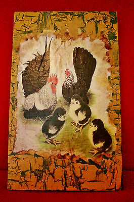 Vintage Look Rooster Rustic Cabin Country Farm Decorative Sign 7