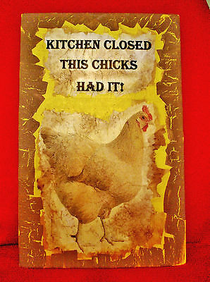 Vintage Look Rooster Rustic Cabin Country Farm Decorative Sign 11