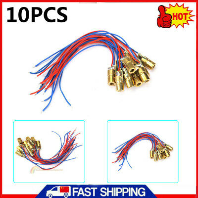 10pcs 650nm 6mm 3V 5mW Tube Laser Dot Diode Module Copper Head With Red Dot New