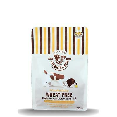 LAUGHING DOG Wheat Free CHEESY OATIES Natural Cheese Dog Puppy Biscuits Treats