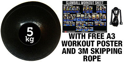 Fxr Sports 5Kg No Bounce Slam Ball Crossfit Mma Fitness Strength Training