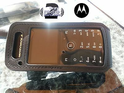 OEM Soft Leather Carry Case Holder Motorola MotoTRBO SL 7550 7580 Swivel Clip