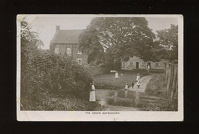 Leicestershire Leics BOTTESFORD The Green + local children 1908 RP PPC creases