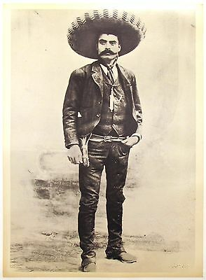 Zapata - Hero of the Mexican Revolution   A photo poster with sombrero