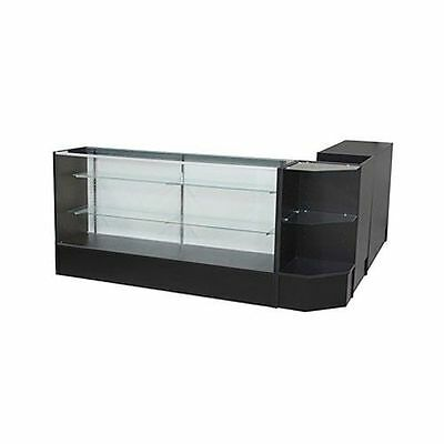 Glass Display Showcase and Counter 4 Piece Set. NEW YORK PICKUP ONLY