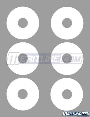 300 White Inkjet Laser Printable Matte Mini CD DVD Disk Label Full Face 22mm Hub