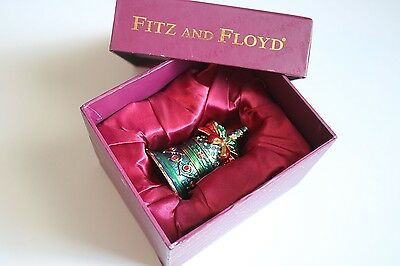 FITZ and FLOYD Treasures Collection RARE Bell Hinged Box Christmas