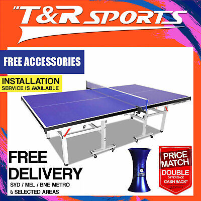19Mm Top 30Mm Metal Leg Double Star Table Tennis / Ping Pong Table Free Post*