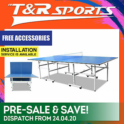 13Mm Table Tennis / Ping Pong Table Free Bats Balls Net Free Syd Mel Bne Post