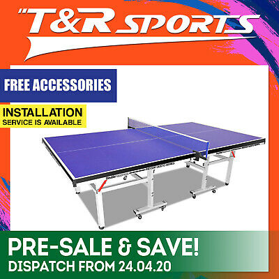 DOUBLE HAPPINESS 16MM PORTABLE TABLE TENNIS/PING PONG TABLE BLUE+Free Gift Pack