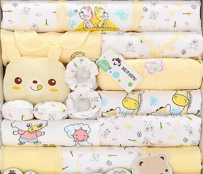 18pcs/Sse Cotton Newborn Baby Clothes Girls Boys Clothing Set 0-12 M  Gift Bag