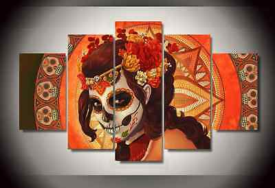Framed Pictures Canvas Prints Sugar Skull Day of the Dead Mexico Wall Home Decor