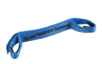 4 x LC 2500kg Load Restraint, Car Carrying Strap With Loops, Wheel Strap, Towing