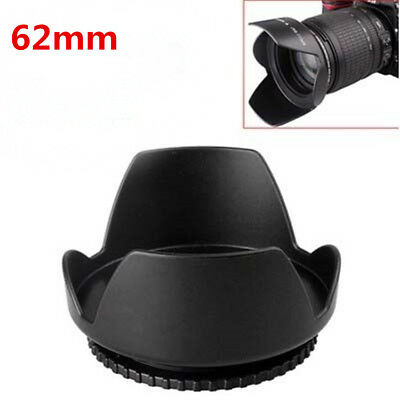 62mm Screw Mount Flower Crown Lens Hood Petal Shape 62 mm For Canon Nikon Sony