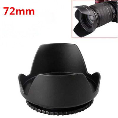 72mm Flower Shape Lens Hood Screw Petal For Canon Nikon Sony FUJI