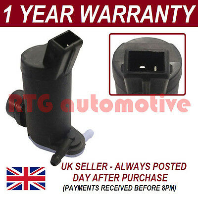 For Ford Focus 1998-2004 Front & Rear Twin Outlet Windscreen Washer Fluid Pump