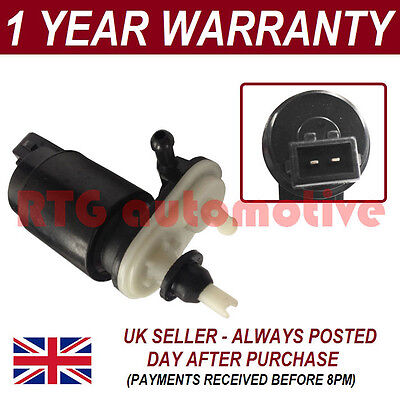 For Vauxhall Zafira B 2005- Front Rear Twin Outlet Windscreen Washer Fluid Pump