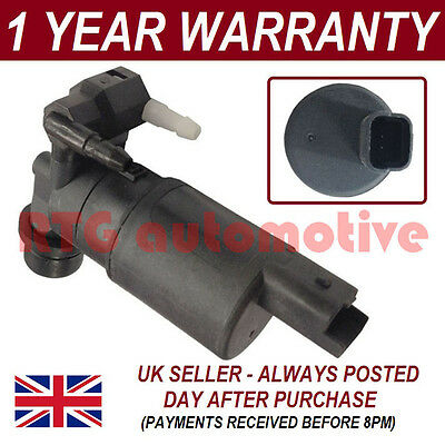 For Renault Clio Mk2 Sport 2001-05 Front Rear Twin Outlet Windscreen Washer Pump