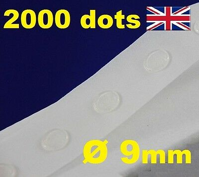 2000 Glue Dots Sticky Craft Clear Card Removable 9mm EASY LOW TACK GLU DOTS