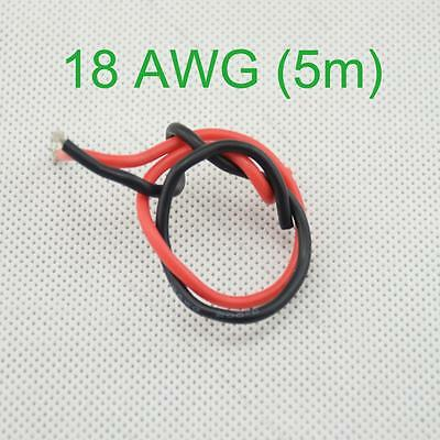 18 AWG (5m) Gauge Silicone Wire Flexible Stranded Copper #F Cables for RC Wiring