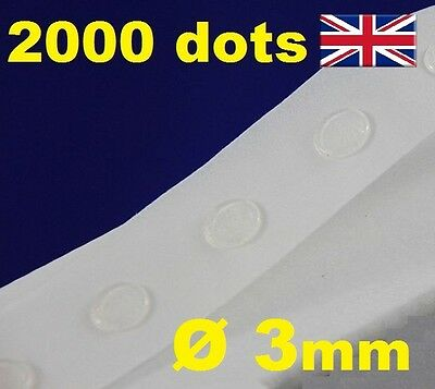 2000 Glue Dots Sticky Craft Clear Card Making Removable 3mm EASY TACK GLU DOTS