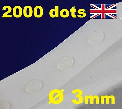 2000 Glue Dots Sticky Craft Clear Card Making Removable 3mm STRONG GLU DOTS