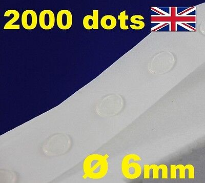 2000 Glue Dots Sticky Craft Clear Card Making Removable 6mm STRONG GLU DOTS